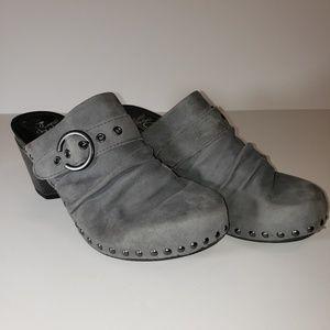DANSKO NADINE Charcoal Grey Clogs Size 41 10.5 EUC